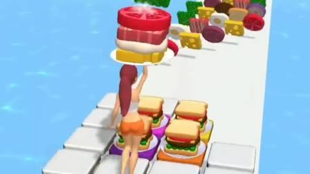 趣味小游戏:谁想吃汉堡呀?