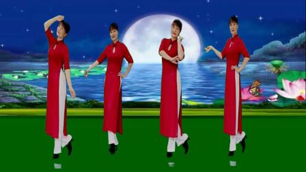 优美广场舞《红颜知己》柔美大气32步,简单易学,附教学