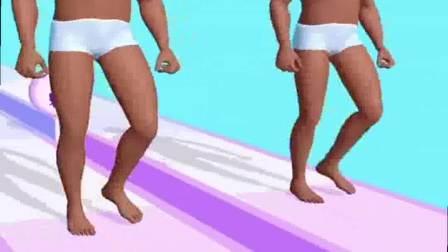 小游戏:猛男穿着裤衩,开始了闯关