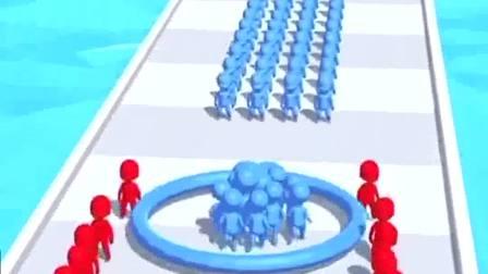 小游戏:小人带着一个圈,能收集更多的伙伴