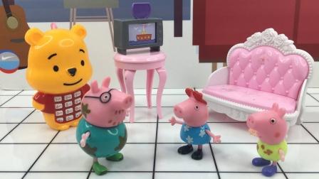 佩奇乔治争吵电视,猪爸爸前来指责两人