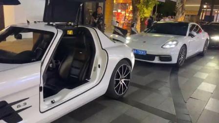 奔驰最有魅力的AMG跑车,这台SLS的车门设计,丝毫不输兰博法拉利!