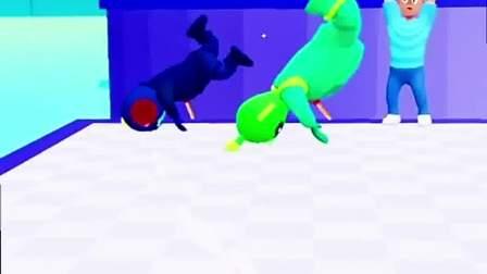 趣味小游戏:敌人带着棍子,小人十分慌张