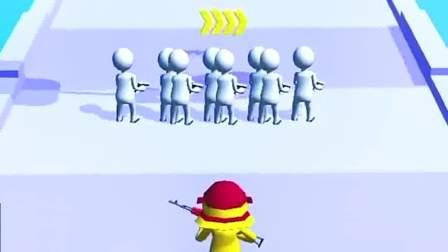 趣味小游戏:端着枪的小黄人,好多敌人围上来