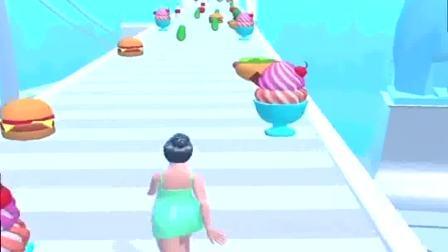 趣味小游戏:小姐姐吃了很多零食,变得很胖