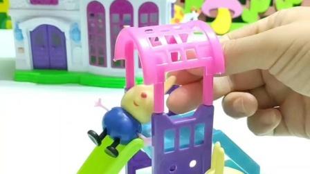 益智玩具:小兔吵着要先玩滑梯