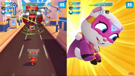 好玩的游戏:汤姆猫和安吉拉跑酷比赛,看看谁厉害一点?