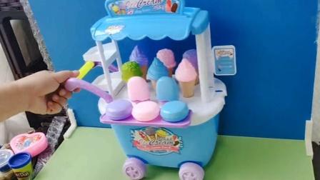 儿童益智玩具:手工安装冰激凌车