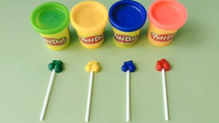 儿童益智玩具:彩泥手工制作樱桃棒棒糖