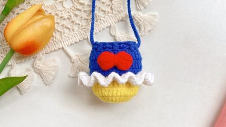 钩针毛线白雪公主2蛋袋蛋兜立夏网袋端午节蛋袋diy创意编织-木小尤手作视频教程