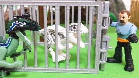 恐龙猎人逮到了好多小恐龙,恐龙饲养员来救援他们