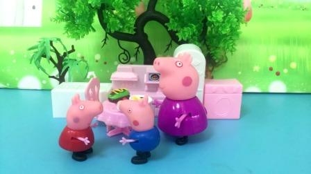 佩奇推乔治玩小猪车说乔治胖了,两人找猪奶奶理论