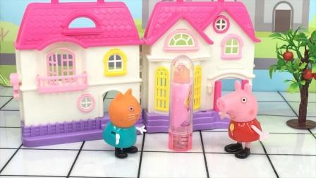 少儿亲子玩具:佩奇和小猫凯迪学会了分享