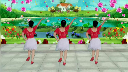 郴州冬菊广场舞【一朵情花开】简单优美漂亮网红舞背面演示附正面分解