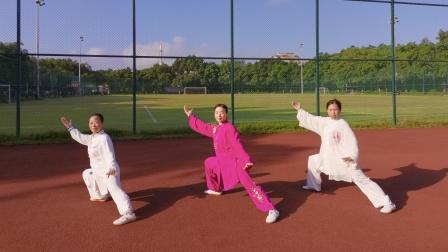 中山市全民健身广场美女演练《新编28式太极拳》🌹🌹🌹
