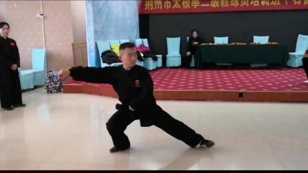 荆州市太极协会付称霸主席示范演示陈氏13式太极拳