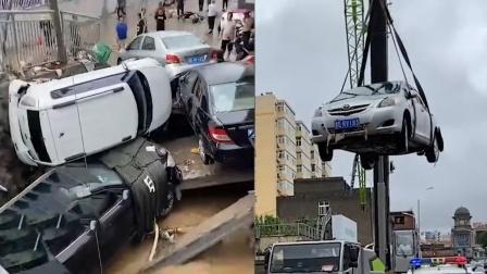 山西晋城遇64年来最强降雨!数辆汽车被冲入河道,受损严重