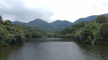 水库里的美景!天高云逸,山青水绿。#大山深处自然美!