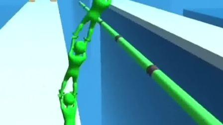 小游戏:小绿人找到了同伴,大家一起集合了