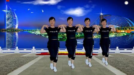 郴州冬菊广场舞【宝贝你最美】原创零基础步子舞附背面分解