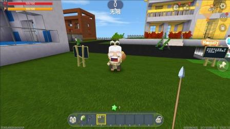 迷你世界05:怪物要抓羊,为了保护喜羊羊,我动用了迫击炮