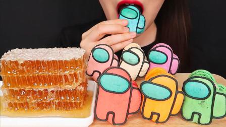 吃货:开吃卡通饼干、蜂蜜,好吃,美味