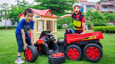 儿童情景剧:汽车轮子不见了?赶紧去寻找!