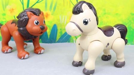 小马丹丹磁力拼装玩具,动物萌宠益智拼拼乐