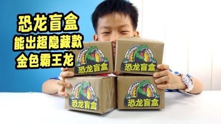 这款恐龙盲盒,还能出黄金隐藏霸王龙!心奇爆龙战车玩具