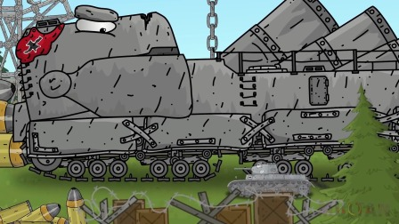 坦克世界动画:躲在丛林的巨型坦克