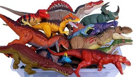认识彩色副栉龙双脊龙等侏罗纪小恐龙
