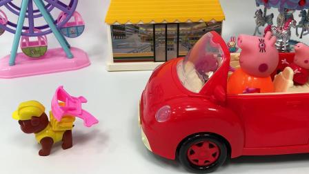 旺旺队帮猪妈妈搬走挡在路上的木马