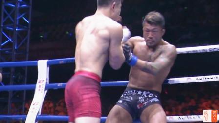 日本选手来华挑战,火麒麟王赛毫不留情,疯狂肘击尽显中国力量