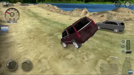 好玩的游戏:越野车闯关,谁厉害呢?