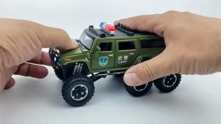 悍马警车玩具 !
