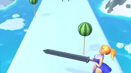 小游戏:小姐姐滑冰拿刀,砍碎了一切