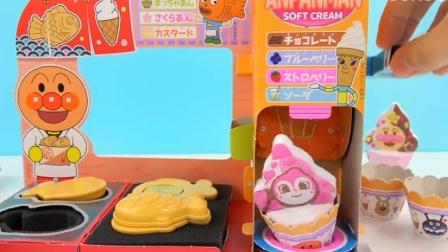 面包超人鲷鱼烧DIY食玩冰淇淋