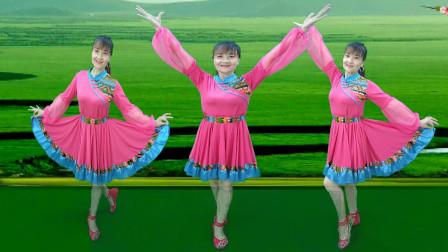 藏族风格广场舞《唐古拉风暴》48步爆火网络,节奏欢快舞步简单