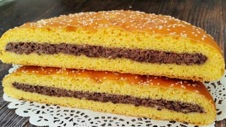 这大饼,谁看了不馋?又香又软带点甜,比面包还好吃