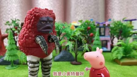 玩具故事:小奥特曼吃了苹果后变成了怪兽,怎么回事呢