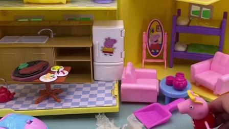 趣味童年:佩琦真懂事,把家里都整理好了