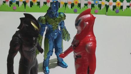 益智玩具:奥特曼见两个怪兽这样笑着走了: