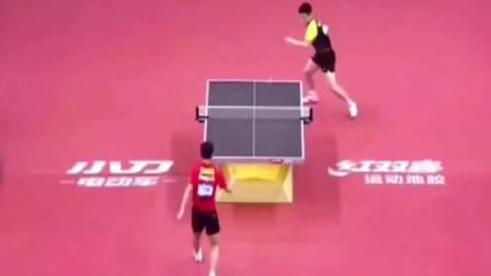兵乓球:张继科VS樊振东赛点表演球!