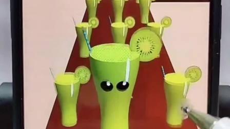 趣味小游戏:谁想喝猕猴桃果汁呀?