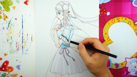 精灵梦叶罗丽简笔画,没有华丽服饰的冰公主
