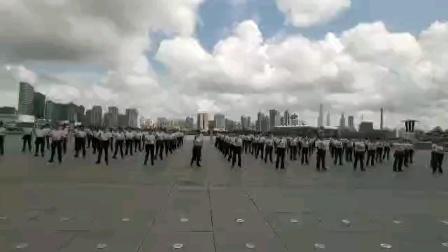 舞蹈《等你来》由山鹰老师教学100名姐妹中华艺术宫航拍