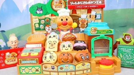 欢迎来到面包超人面包店,光头强烤面包吃美食