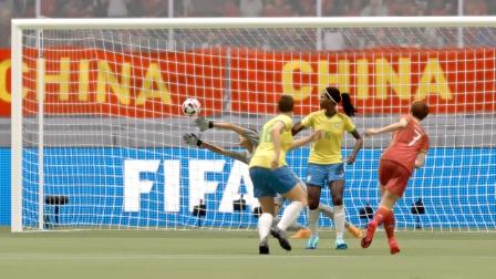 FIFA21游戏时刻:中国女足4:0巴西女足,王霜帽子戏法