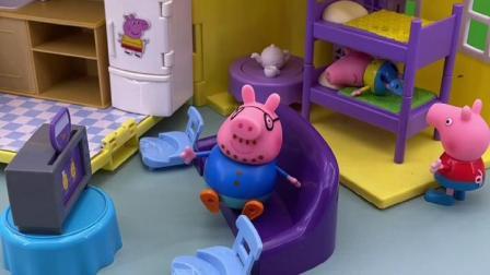 趣味童年:小猪一家都休息了