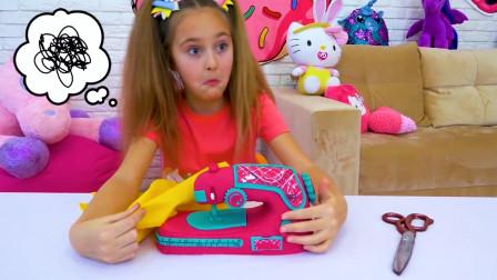 小萝莉的缝纫机停止工作,这是怎么回事呀